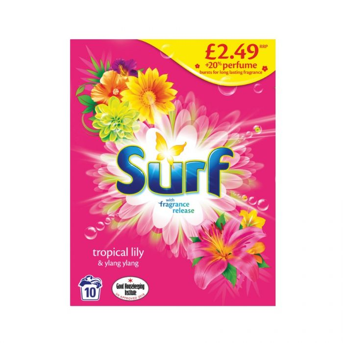 Surf Powder Tropical Lily & Ylang Ylang 10 Washes 700G (Pm £2.49) <br> Pack size: 7 x 700g <br> Product code: 487158