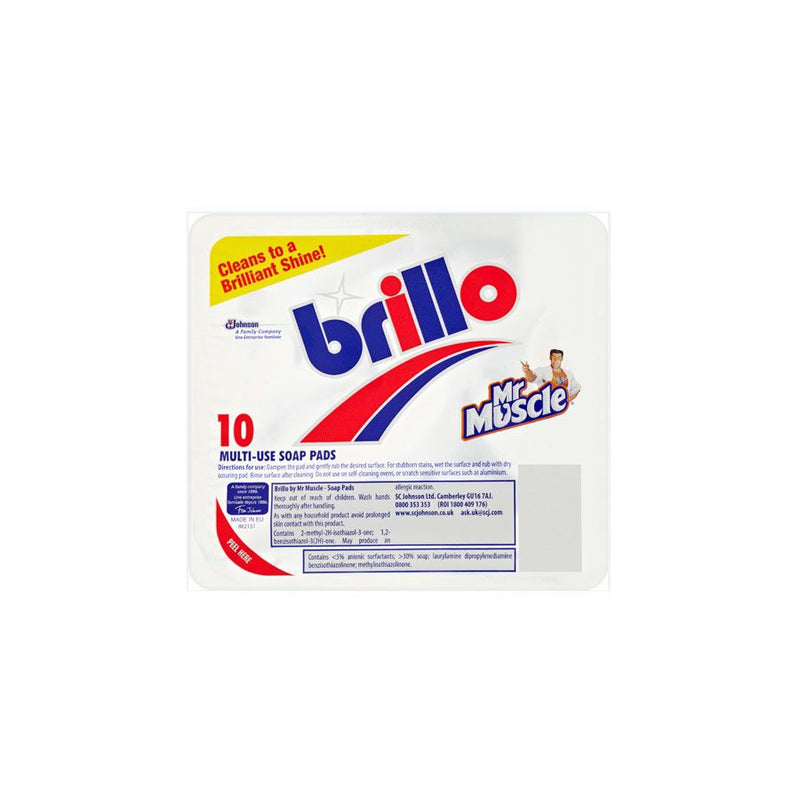 Brillo Pads 10S <br> Pack Size: 12 x 10 <br> Product code: 491050