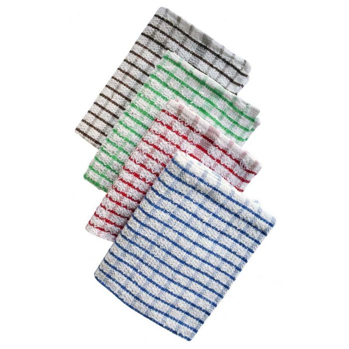 Tea Towel Terry Check 100% Cotton <br> Pack size: 10 x 1 <br> Product code: 497270