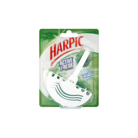 Harpic Active Fresh Toilet Block Mountain Pine 38G <br> Pack size: 12 x 38g <br> Product code: 522400