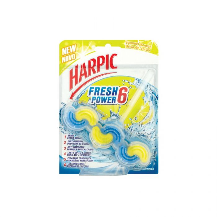 Harpic Fresh Power Summer Breeze Toilet Block 39G Pmâ£1.69 <br> Pack size: 6 x 39g <br> Product code: 522403