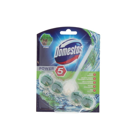 Domestos Power 5 Rim Block Pine <br> Pack Size: 9 x 1 <br> Product code: 523064