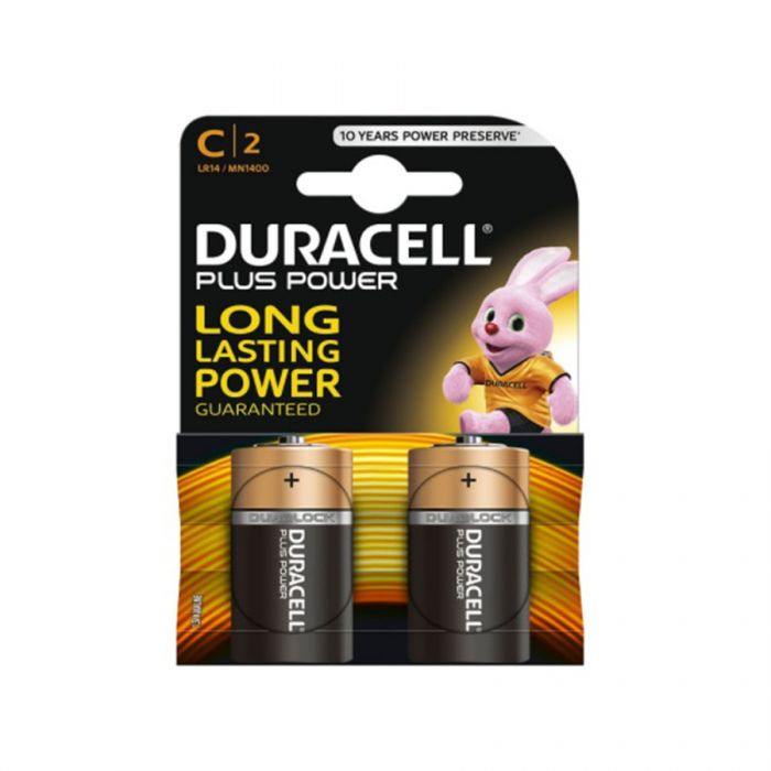 Duracell Plus Power C Batteries Mn1400 (2 Pack) <br> Pack size: 10 x 2 <br> Product code: 531100