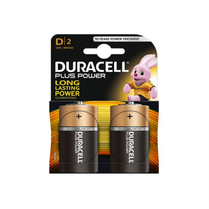 Duracell Plus Power D Batteries Mn1300 (2 Pack) <br> Pack size: 10 x 2 <br> Product code: 531120