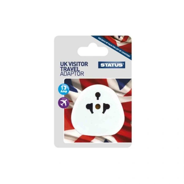 Status Uk Visitor Travel Adaptor <br> Pack size: 12 x 1 <br> Product code: 532803