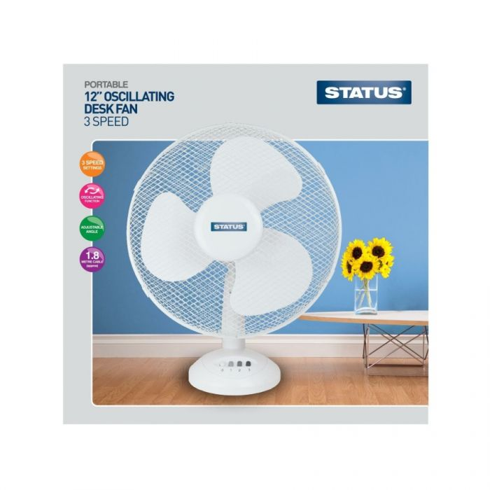 Status Desk Fan 12 Inches <br> Pack size: 1 x 1 <br> Product code: 532812