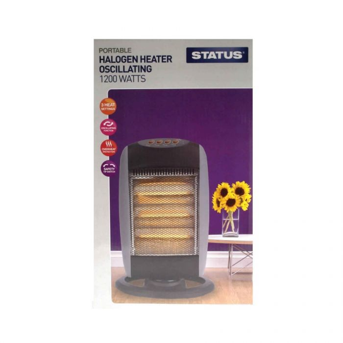 Status Halogen Heater Oscillating 1200 Watts <br> Pack size: 1 x 1 <br> Product code: 532822