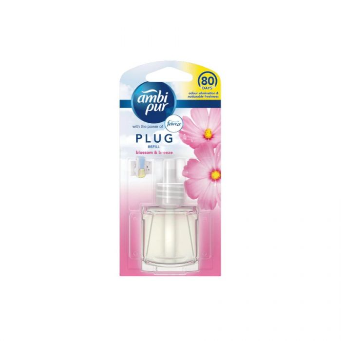 Ambi-Pur Plug Refill Blossom & Breeze 20Ml <br> Pack size: 6 x 20ml <br> Product code: 541890