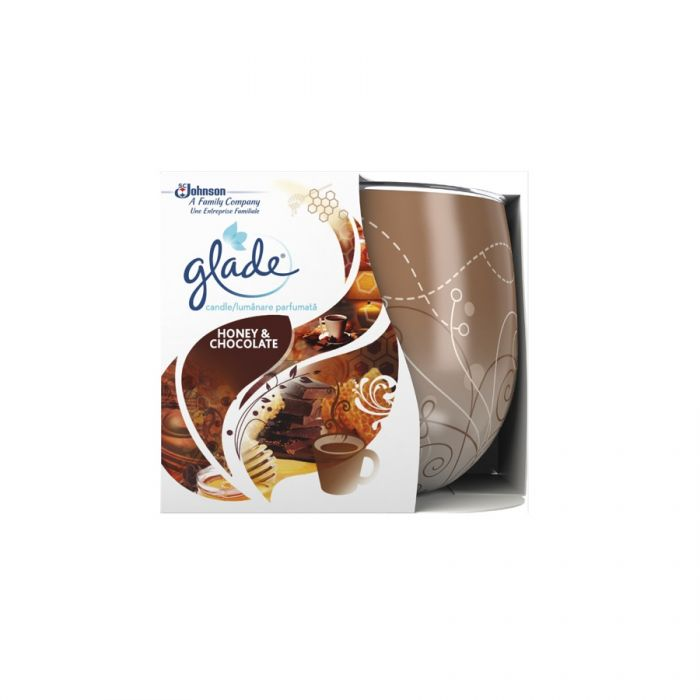 Glade Candle Honey & Chocolate 120G <br> Pack size: 6 x 120g <br> Product code: 544751
