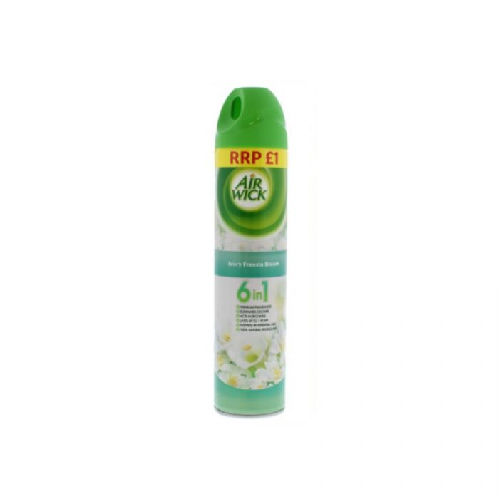 Air Wick Air Freshener Ivory Freesia Bloom 240Ml (Pm £1.00) <br> Pack size: 12 x 240ml <br> Product code: 545551