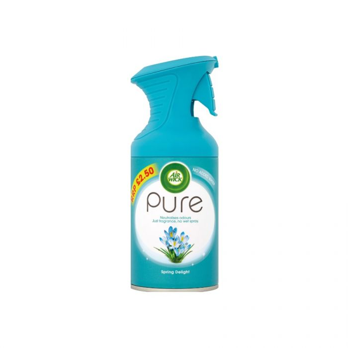 Air Wick Pure Spring Delight Air Freshener 250Ml (Pm £2.50) <br> Pack size: 6 x 250ml <br> Product code: 545753