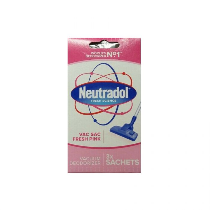 Neutradol Vac Sac Fresh Pink 3S <br> Pack size: 12 x 3 <br> Product code: 546274