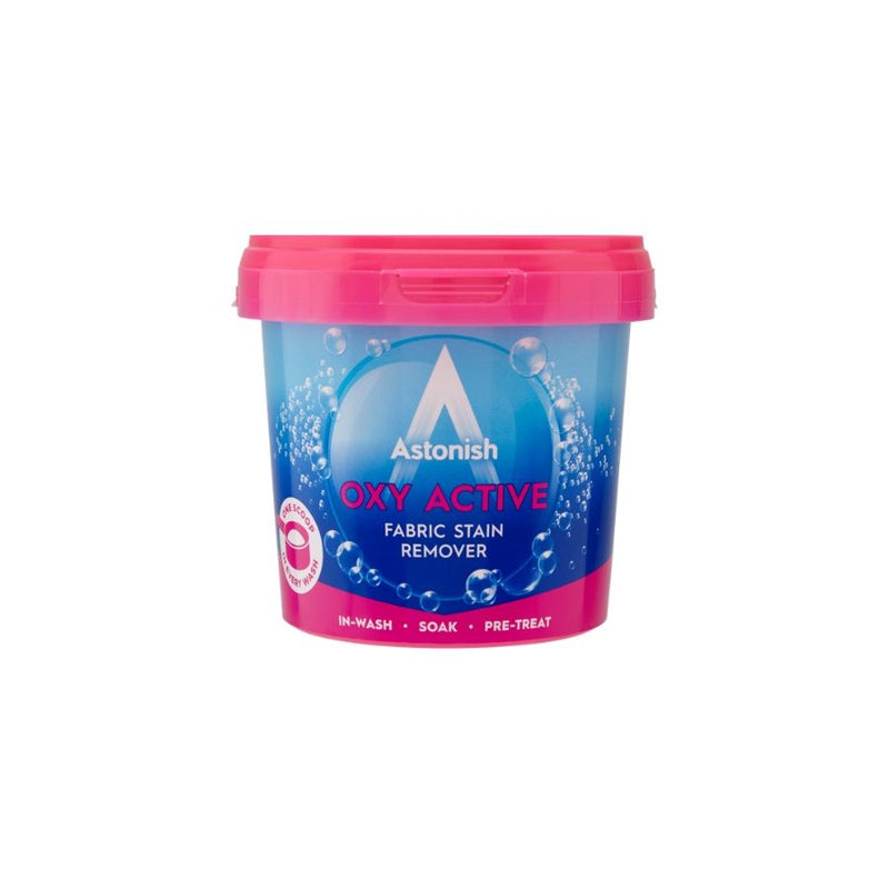 Astonish Oxy Active Fabric Stain Remover Powder 500G <br> Pack Size: 12 x 500g <br> Product code: 551765
