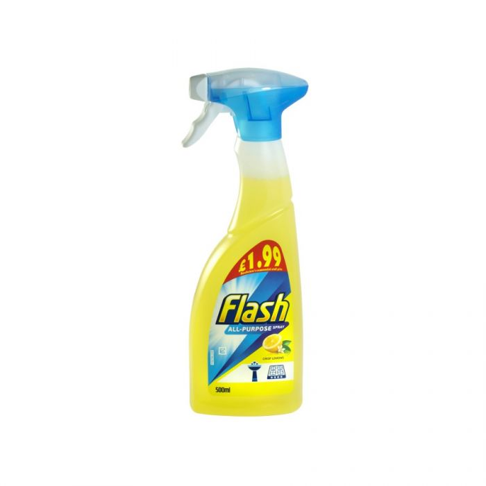 Flash All Purpose Spray Crisp Lemons 500Ml (Pm £1.99) <br> Pack size: 6 x 500ml <br> Product code: 554371