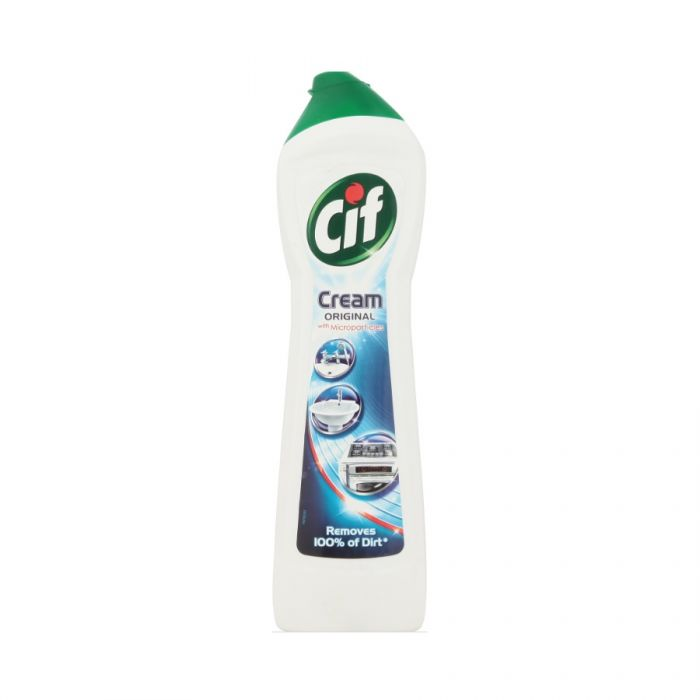 Cif Cream Regular White 500Ml <br> Pack size: 8 x 500ml <br> Product code: 555371