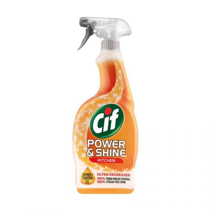 Cif Power & Shine Kitchen Spray 700Ml <br> Pack size: 6 x 700ml <br> Product code: 555400