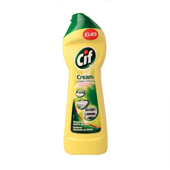 Cif Cream Lemon 250Ml (Pm £1.49) <br> Pack size: 6 x 250ml <br> Product code: 555521