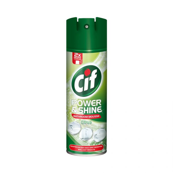 Cif Bathroom Mousse Citrus Burst 500Ml <br> Pack size: 6 x 500ml <br> Product code: 555592