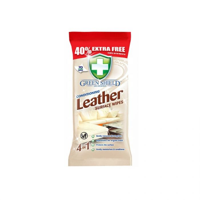 Green Shield Leather Surface Wipes 70S <br> Pack size: 12 x 70 <br> Product code: 558421