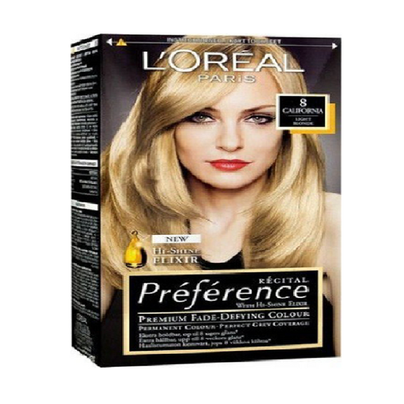 L'Oreal Recital California 8 <br> Pack size: 3 x 1 <br> Product code: 204720