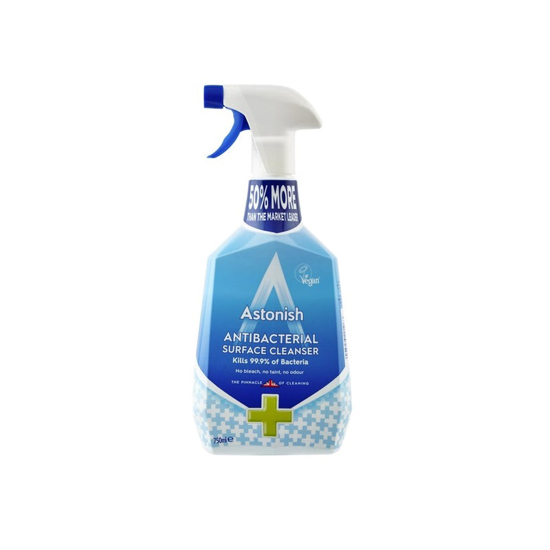 Astonish Antibacterial Surface Cleanser Spray 750ml <br> Pack size: 12 x 750ml <br> Product code: 551751