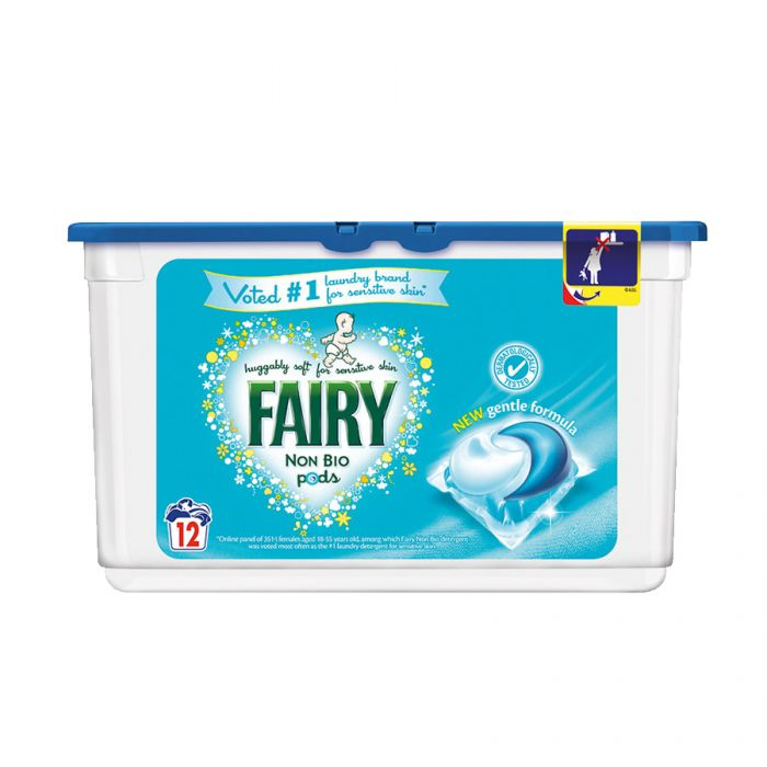 Fairy Non Bio Pods 12S (Pm £3.99) <br> Pack size: 6 x 12 <br> Product code: 484052
