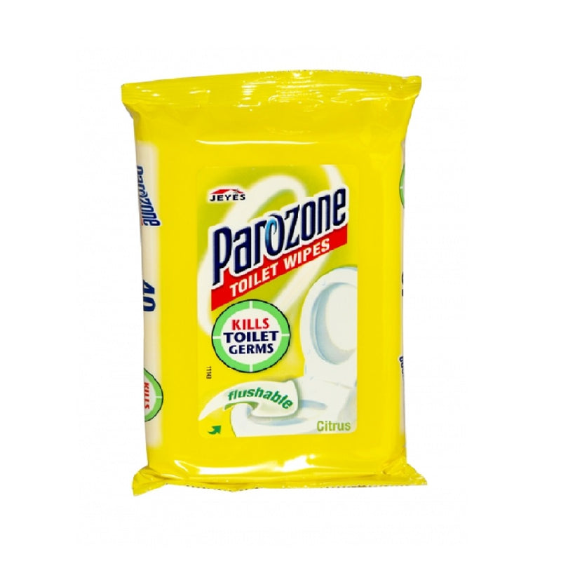 Parozone Toilet Wipe 40'S Citrus <br> Pack size: 8 x 40s <br> Product code: 462864