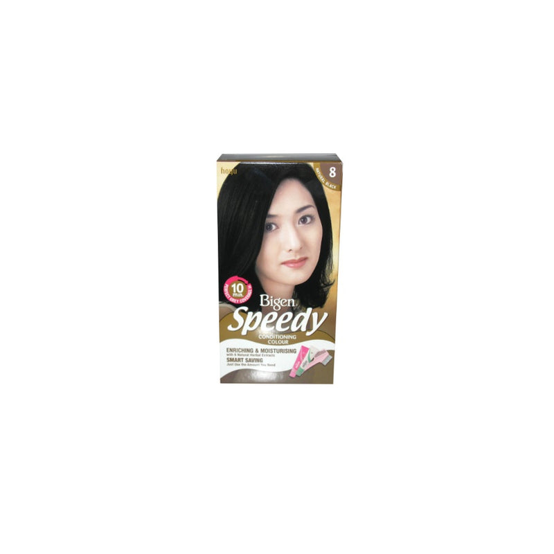 Bigen Speedy Conditioning Hair Colour (8) Natural Black <br> Pack size: 3 x 1 <br> Product code: 200386