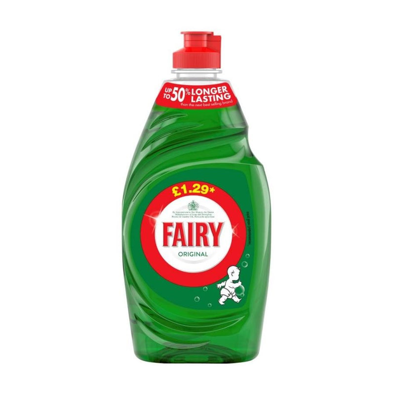 Fairy Washing Up Liquid Original 433ml (PM £1.29) <br> Pack size: 10 x 433ml <br> Product code: 472030