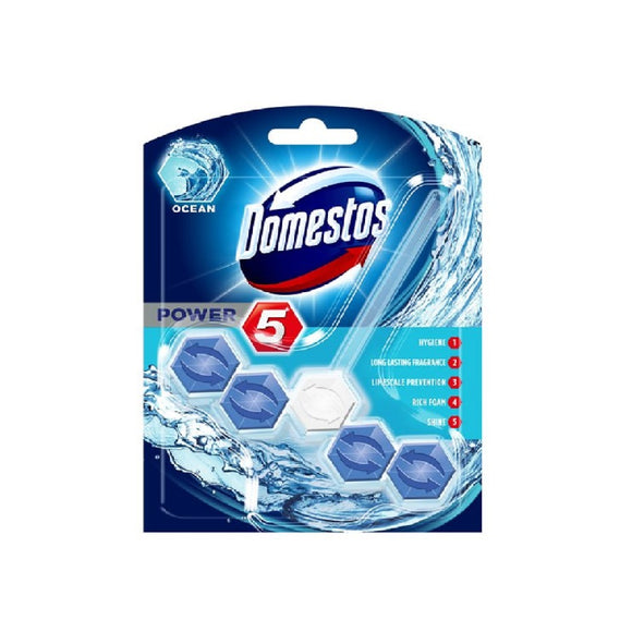 Domestos Power 5 Rimblock Ocean <br> Pack size: 9 x 1 <br> Product code: 523063