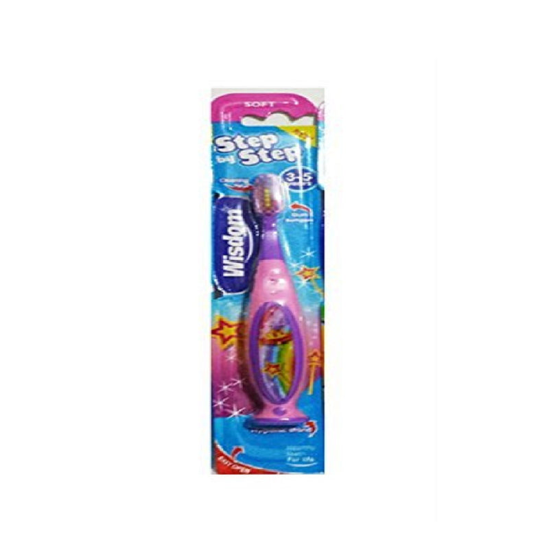 Wisdom Step-By-Step Toothbrush 3-5 Years <br> Pack size: 10 x 1 <br> Product code: 304216