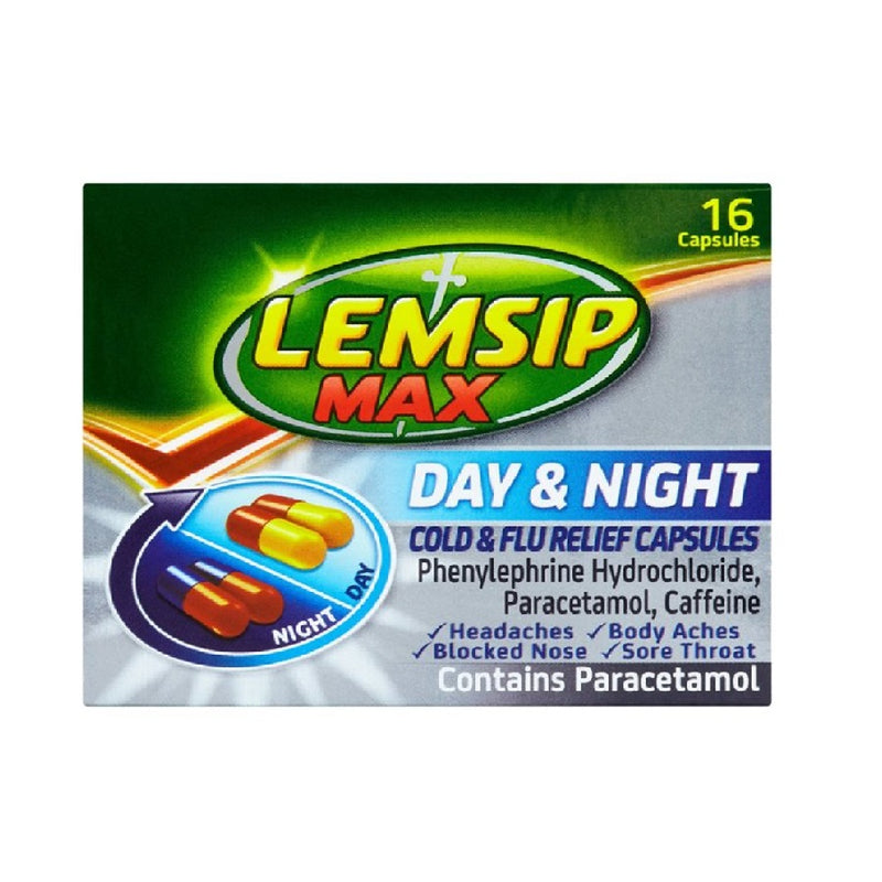Lemsip Max Day & Night Caps 16'S <br> Pack size: 6 x 16s <br> Product code: 193891
