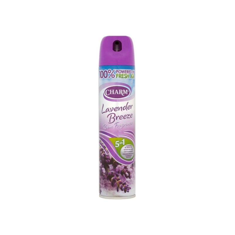 Charm Room Fragrance Lavender Breeze 240ml  <br> Pack size: 12 x 240ml <br> Product code: 543160