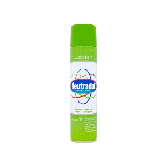 Neutradol Room Spray Deodorizer Super Fresh 300ml <br> Pack size: 12 x 300ml <br> Product code: 546231