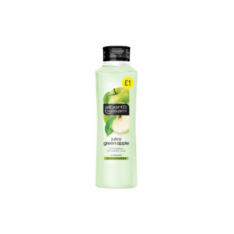 Alberto Balsam Conditioner Juicy Green Apple 350ml (PM £1) <br> Pack size: 6 x 350ml <br> Product code: 180554