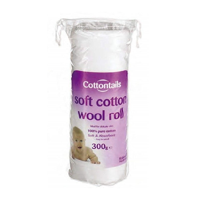 Cotton Tails Cotton Wool Roll 300g <br> Pack size: 12 x 300g <br> Product code: 230580