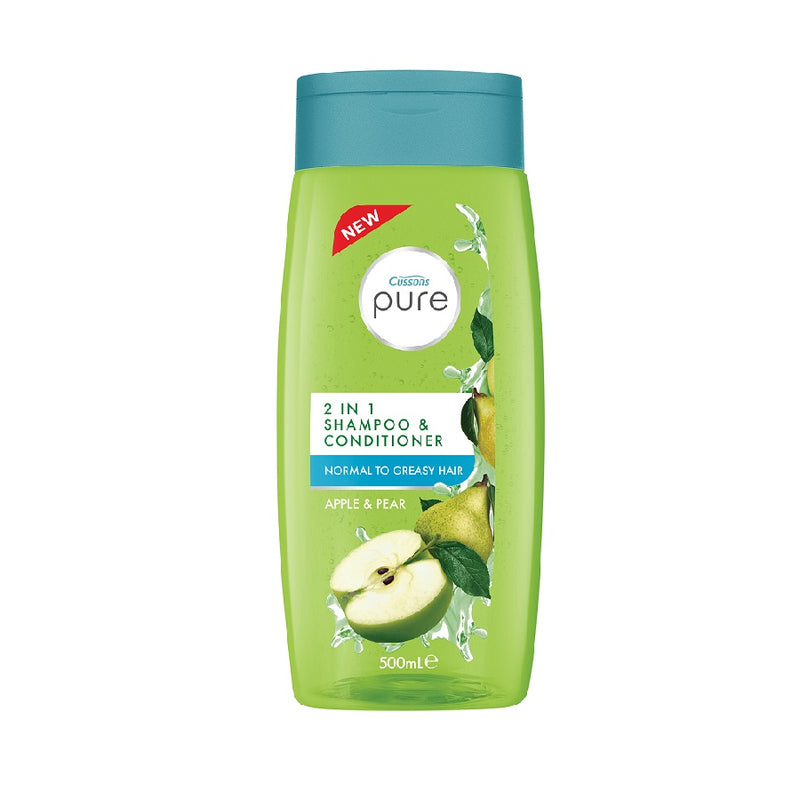 Cussons Pure 2In1 500Ml Apple & Pear <br> Pack size: 6 x 500ml <br> Product code: 172016