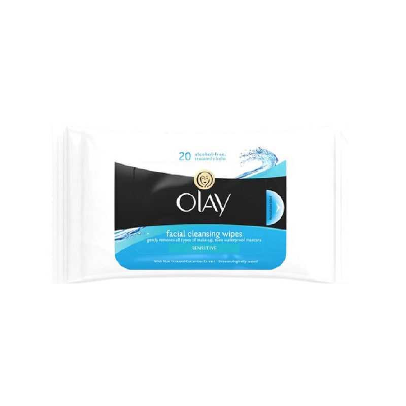 Olay Gentle Essential Wipes Sensitive 20'S <br> Pack size: 8 x 20s <br> Product code: 225244