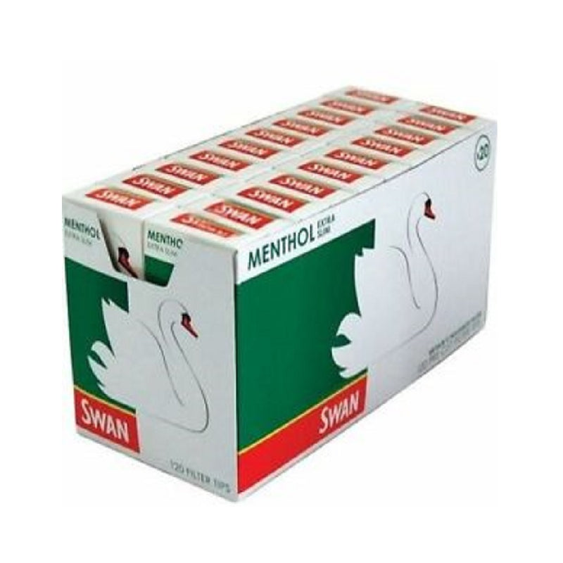 Swan Menthol Extra Slim Tips <br> Pack size: 20 x 1 <br> Product code: 146217