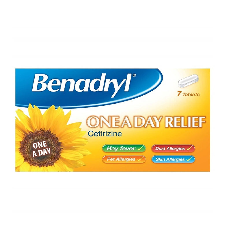 Benadryl Oneaday 7S Gsl <br> Pack size: 6 x 7 <br> Product code: 121349
