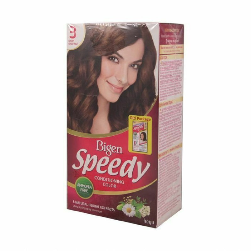 Bigen Speedy (3) Warm Chestnut <br> Pack size: 3 x 1 <br> Product code: 200380