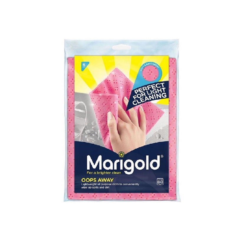 Marigold Oops Away Cloths 6'S <br> Pack size: 14 x 6s <br> Product code: 496911