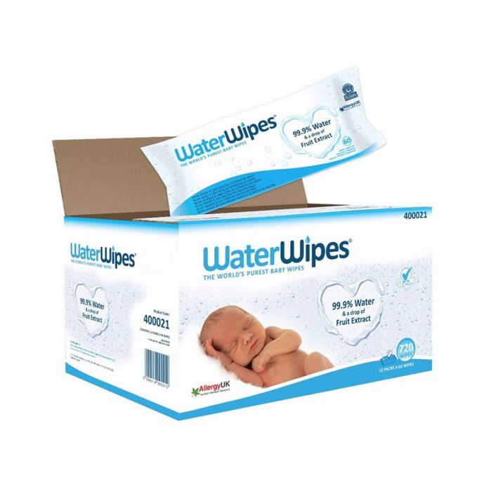 Waterwipes Baby Wipes 12 X 60S <br> Pack size: 12 x 60 <br> Product code: 401710