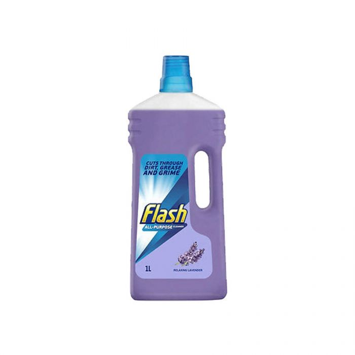 Flash All Purpose Clear Lavender 1 Litre <br> Pack size: 6 x 1L <br> Product code: 554600
