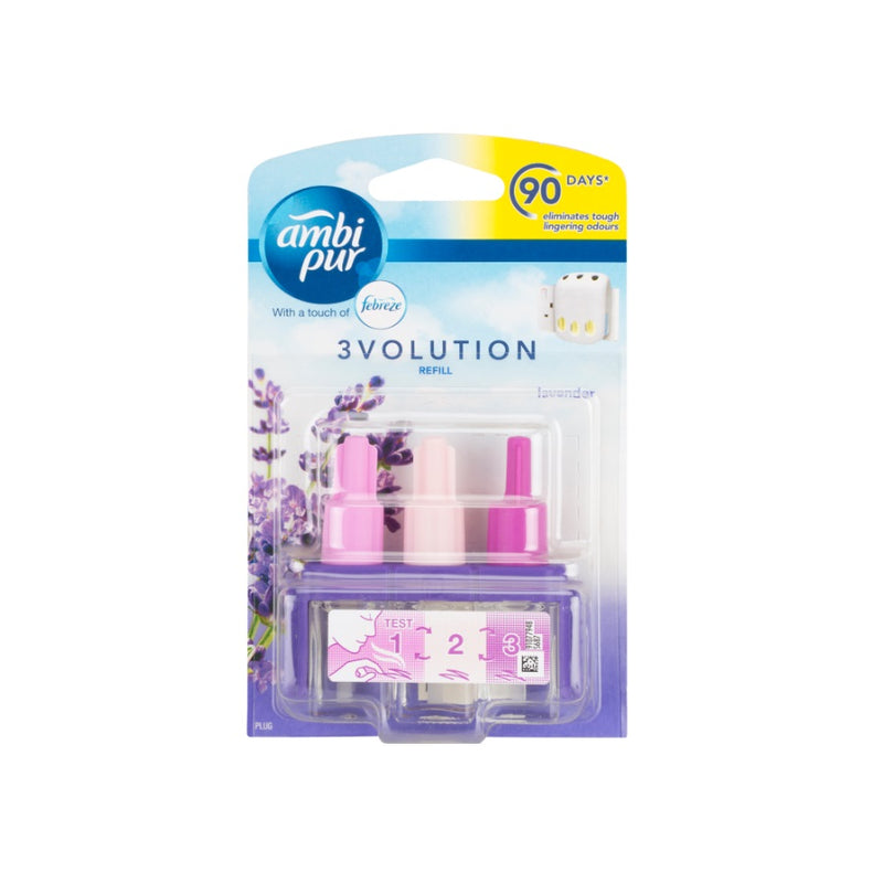 Ambi Pur 3Volution Refill Lavender <br> Pack size: 6 x 1 <br> Product code: 541861