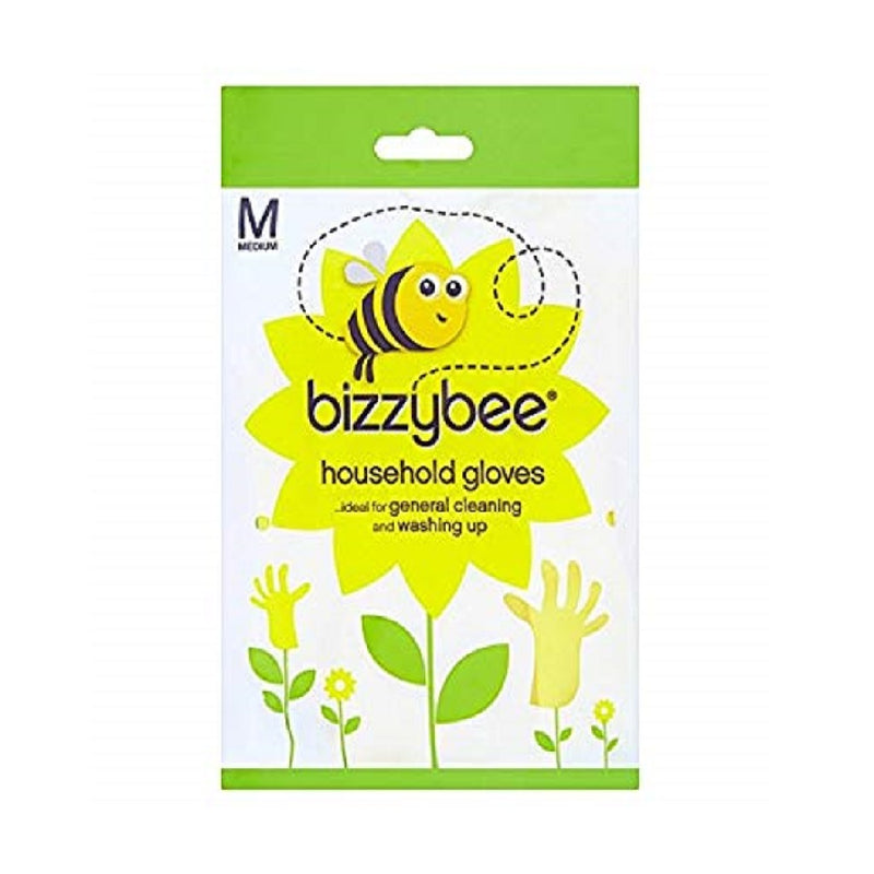 Bizzybee Household Rubber Gloves Medium <br> Pack size: 6 x 1 <br> Product code: 354108
