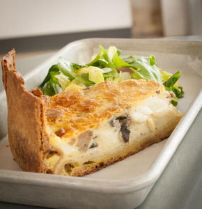 Baked Quiche & Salad