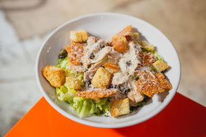 Roasted Chicken Caesar Salad