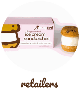 Petey Bird Cookies and Cream Ice Cream Sandwich