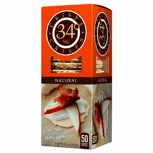 34 Degrees Natural Crackers 4.5 Oz